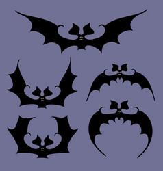 set of bats for halloween vector image