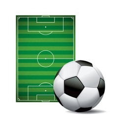 Soccer Football Field and Ball Isolated on White vector image vector image