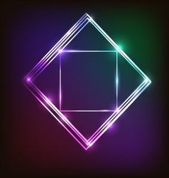 Abstract colorful neon background with squares vector