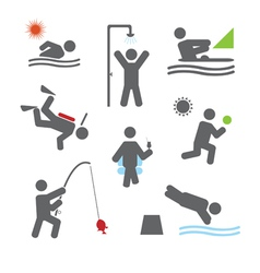 Relax icons vector image