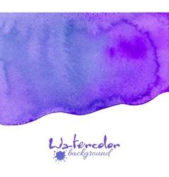 Violet watercolor background vector image vector image