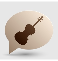 Violine sign Brown gradient icon on vector image