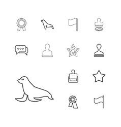 13 seal icons vector