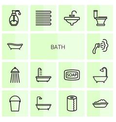 14 bath icons vector