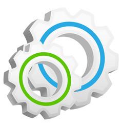 3d gears icon vector image