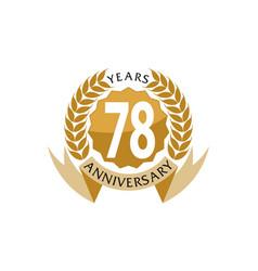 78 years ribbon anniversary vector image