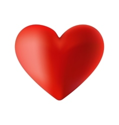 a red heart on the day of vector image vector image