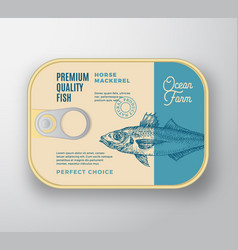 Abstract fish aluminium container vector