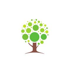 abstract tree logo icon design concept vector image