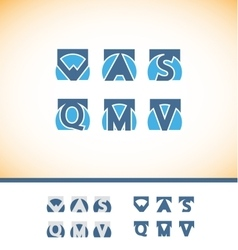 Alphabet letter logo icon set vector image