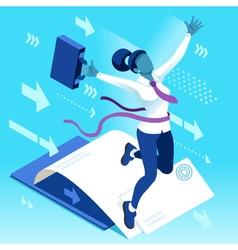 Ambitious business change 97 Job Ambitions concept vector