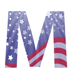american letter M vector image