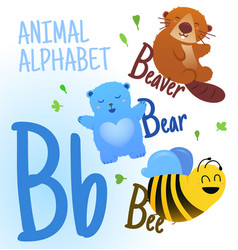 Animal alphabet in p letter very cute vector