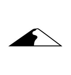 Barkhan sand-dune icon vector