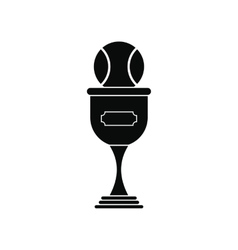 Baseball trophy black simple icon vector image