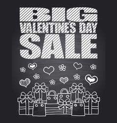 Big valentines day sale vector