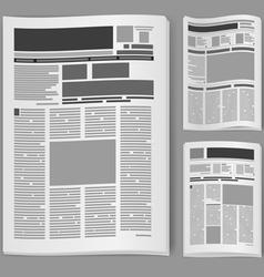 blank newspaper vector image