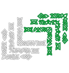 Borders and patterns in celtic style vector image