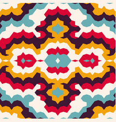bright psychedelic vintage seamless pattern vector image