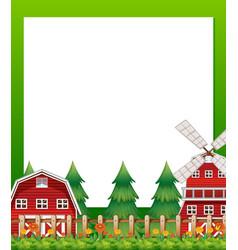 Countryside landscape border banner vector