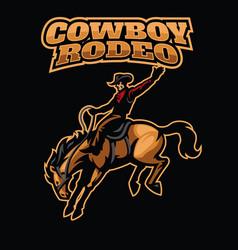 Cowboy rodeo vector
