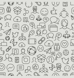 different network app icons seamless pattern vector image