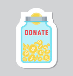 Donate button symbol help icon donation vector