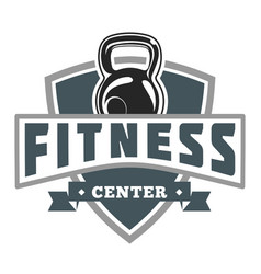Fitness muscle shield image vector