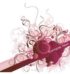 floral vine banner vector image
