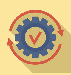 Gear wheel update icon flat style vector