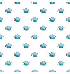 graduation hat pattern seamless vector image