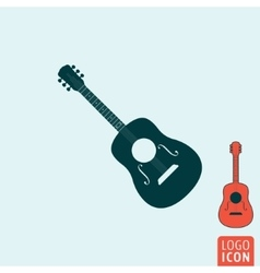 Guitar icon isolated vector image
