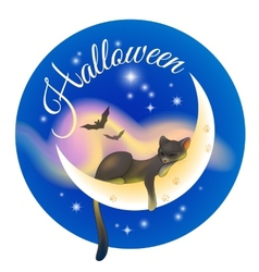 Halloween sleeping cat vector