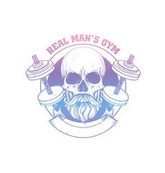 hand drawn sketch sport skull vector image
