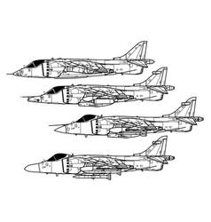 Hawker siddeley harrier vector