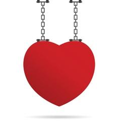 Heart on chain vector