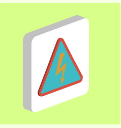 high voltage computer symbol vector image