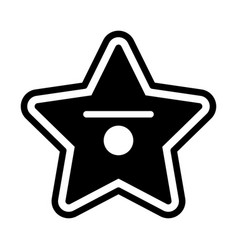 Hollywood star solid vector