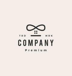 Infinity house hipster vintage logo icon vector