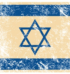 Israel retro flag vector image