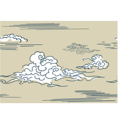 japanese chinese clouds style pattern vector image