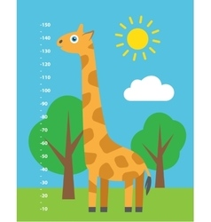 Kid height Cartoon vector image