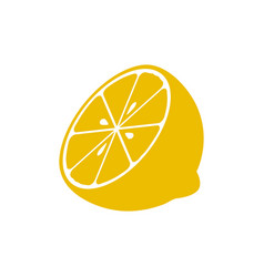 lemon icon design template isolated vector image