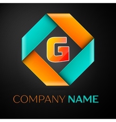 Letter G logo symbol in the colorful rhombus on vector