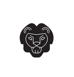 lion roar black concept icon lion roar vector image