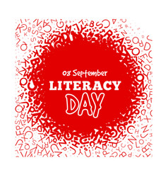 Literacy day - september 8th vector