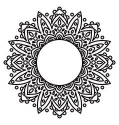 Mandalas Ethnic decorative elements in a circle vector image