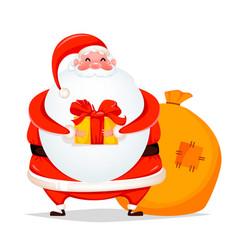 merry christmas cheerful santa claus vector image