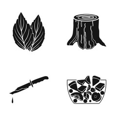 Nature restaurant ecology and other web icon in vector