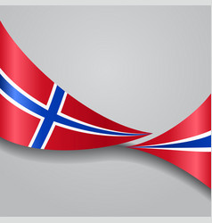 Norwegian wavy flag vector